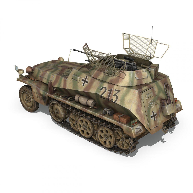sd.kfz 250/9 – reconnaissance halftruck – 116pzdiv 3d model 3ds fbx c4d lwo obj 300377