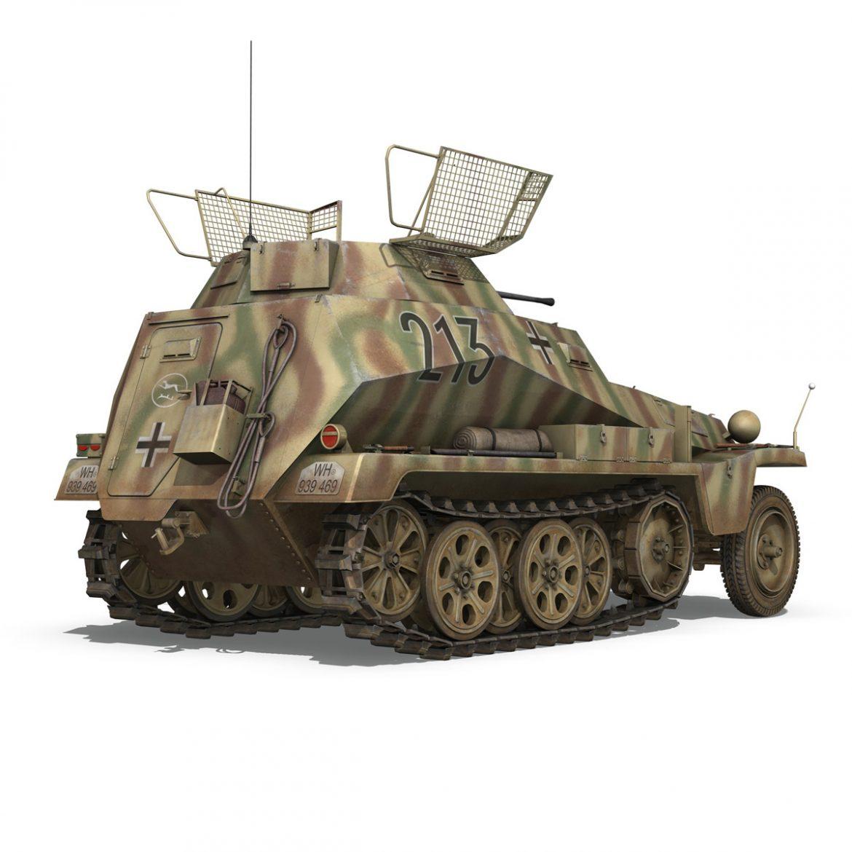 sd.kfz 250/9 – reconnaissance halftruck – 116pzdiv 3d model 3ds fbx c4d lwo obj 300378