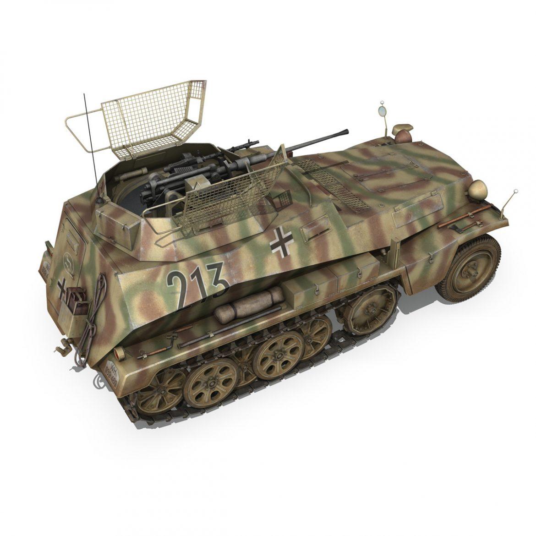 sd.kfz 250/9 – reconnaissance halftruck – 116pzdiv 3d model 3ds fbx c4d lwo obj 300379