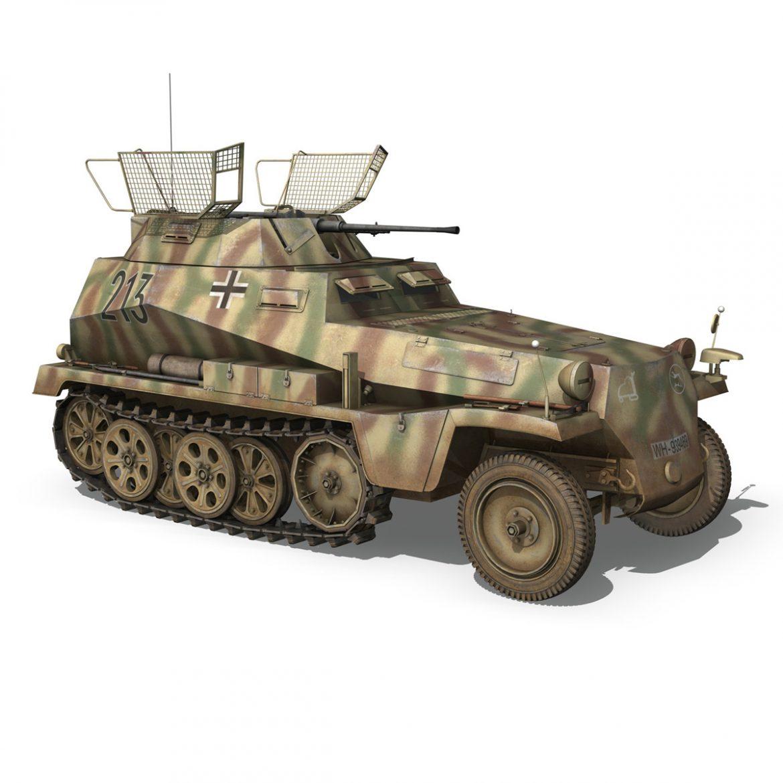 sd.kfz 250/9 – reconnaissance halftruck – 116pzdiv 3d model 3ds fbx c4d lwo obj 300380