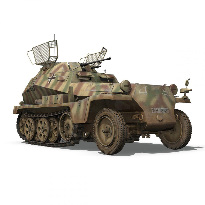 sd.kfz 250/9 – reconnaissance halftruck – 116pzdiv 3d model 3ds fbx c4d lwo obj 300381