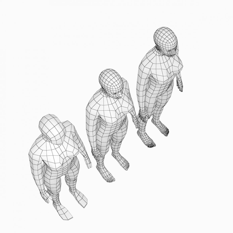 female base mesh natural proportions in rest pose 3d model 3ds max fbx c4d ma mb  obj 300404