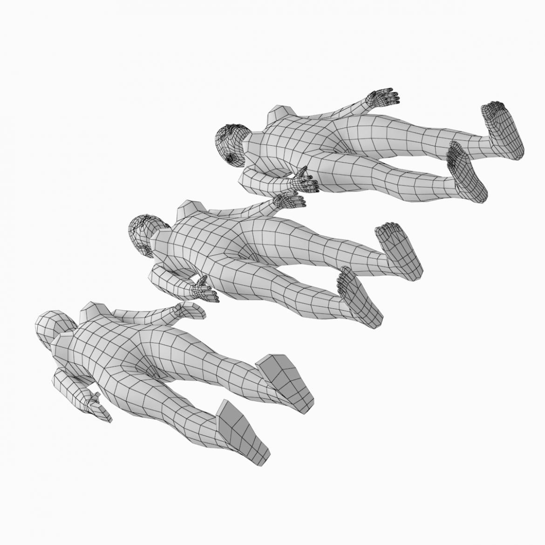 female base mesh natural proportions in rest pose 3d model 3ds max fbx c4d ma mb  obj 300406