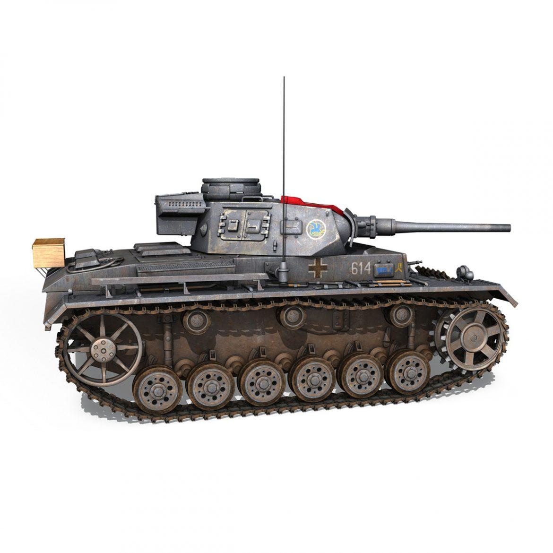 pzkpfw iii – panzer 3 – ausf.j – 614 3d model 3ds fbx c4d lwo obj 300431