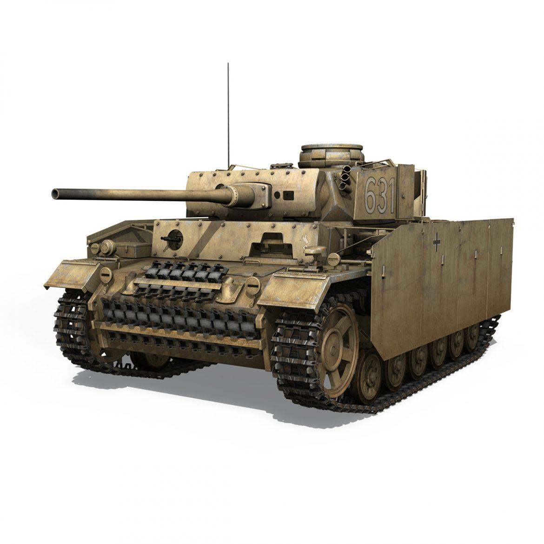 pzkpfw iii – panzer 3 – ausf.m – 631 3d model 3ds c4d lwo obj 300457