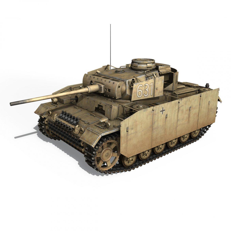 pzkpfw iii – panzer 3 – ausf.m – 631 3d model 3ds c4d lwo obj 300458