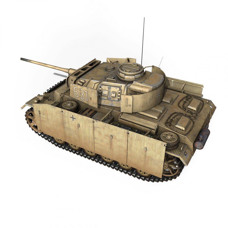 pzkpfw iii – panzer 3 – ausf.m – 631 3d model 3ds c4d lwo obj 300459