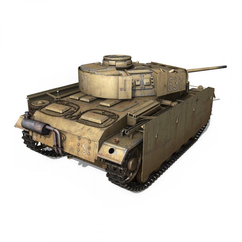 pzkpfw iii – panzer 3 – ausf.m – 631 3d model 3ds c4d lwo obj 300461