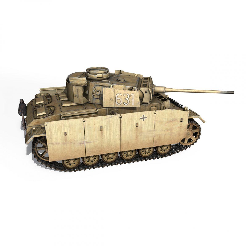 pzkpfw iii – panzer 3 – ausf.m – 631 3d model 3ds c4d lwo obj 300462