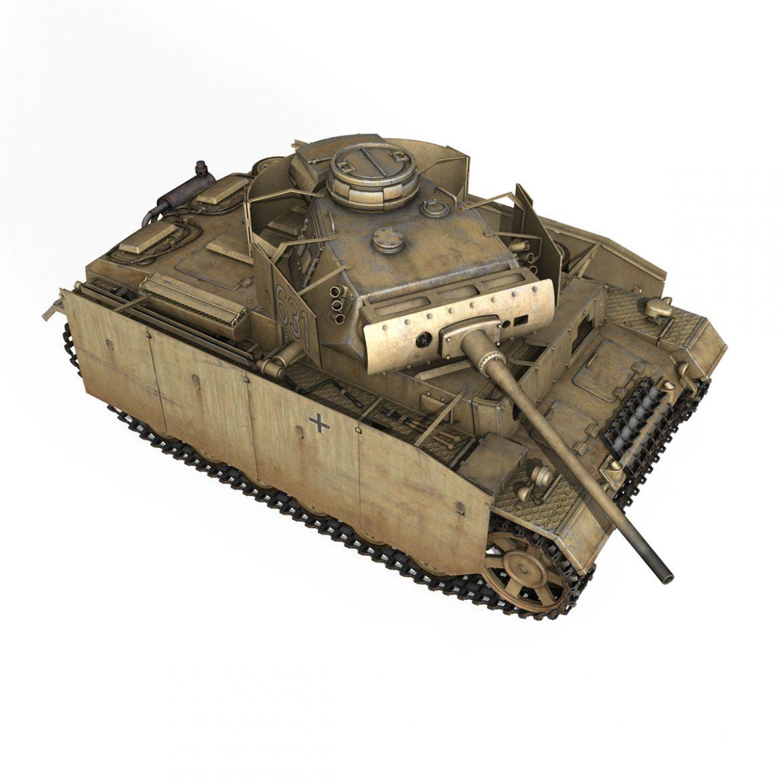 pzkpfw iii – panzer 3 – ausf.m – 631 3d model 3ds c4d lwo obj 300463