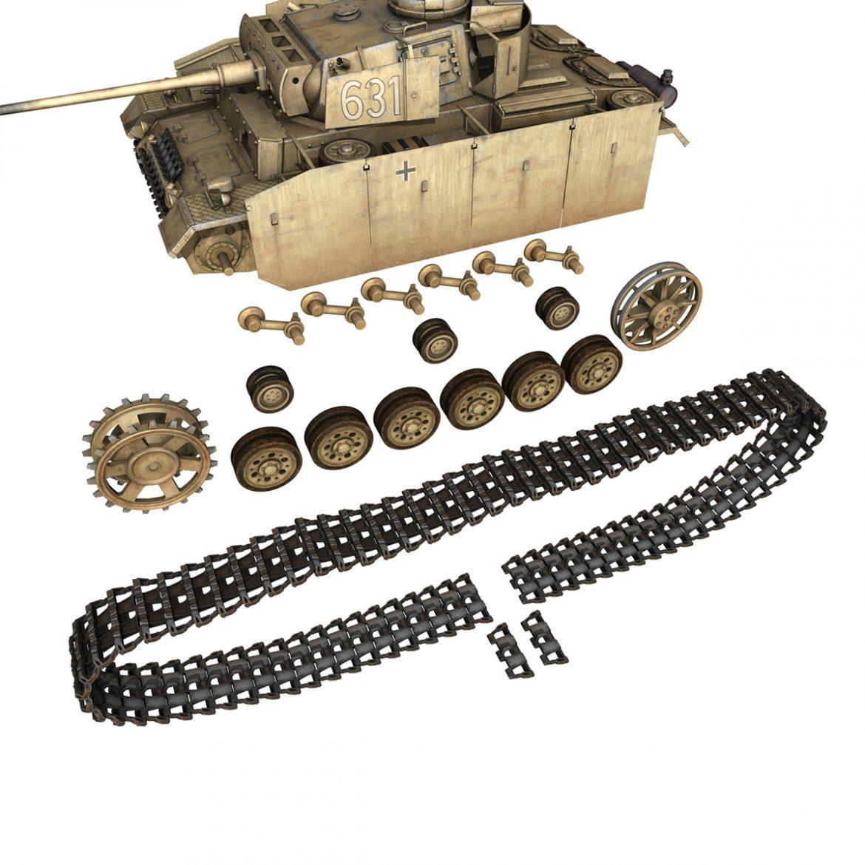 pzkpfw iii – panzer 3 – ausf.m – 631 3d model 3ds c4d lwo obj 300466