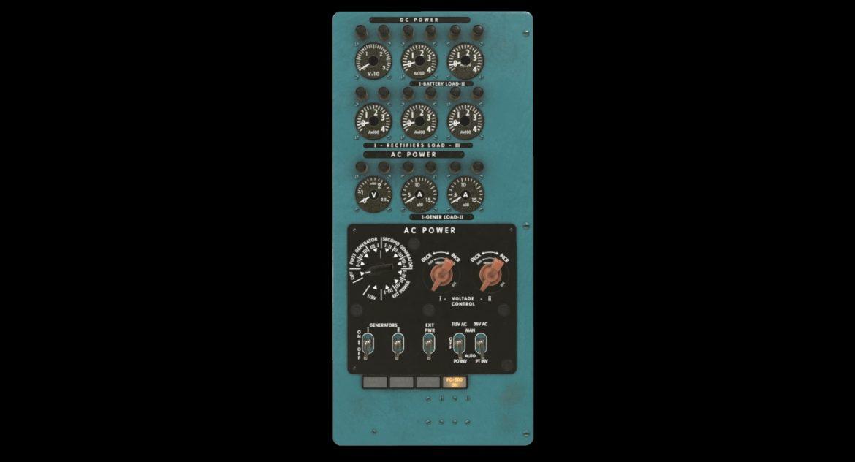 mi-8mt mi-17mt power panels board english 3d model 3ds max fbx obj 300478