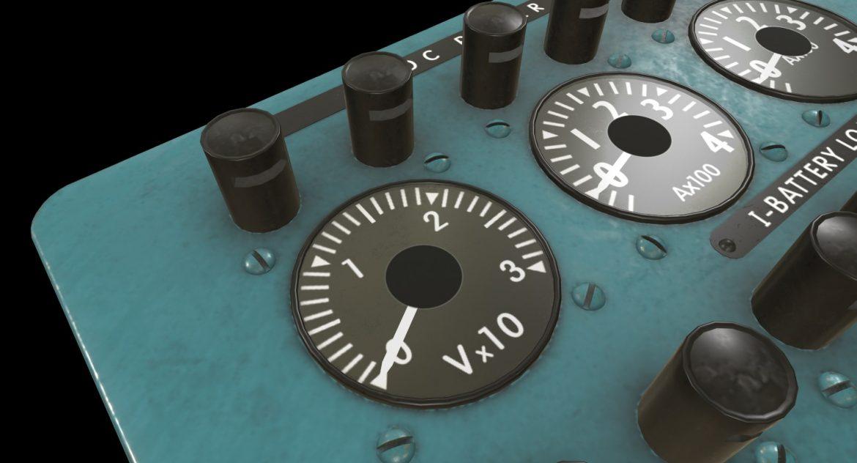 mi-8mt mi-17mt power panels board english 3d model 3ds max fbx obj 300479