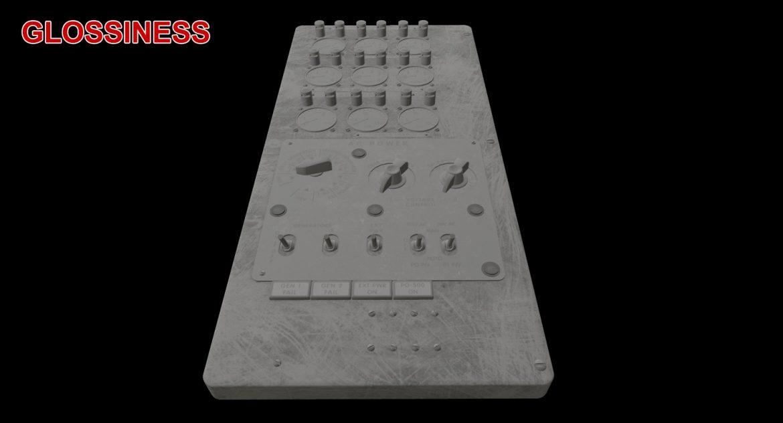 mi-8mt mi-17mt power panels board english 3d model 3ds max fbx obj 300495