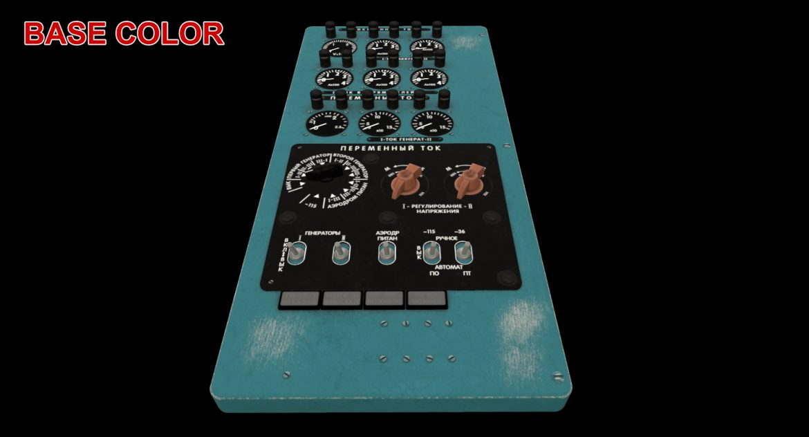 mi-8mt mi-17mt power panels board russian 3d model 3ds max fbx obj 300534