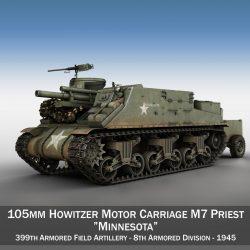 m7 priest – minnesota 3d model 3ds fbx c4d lwo obj 300557