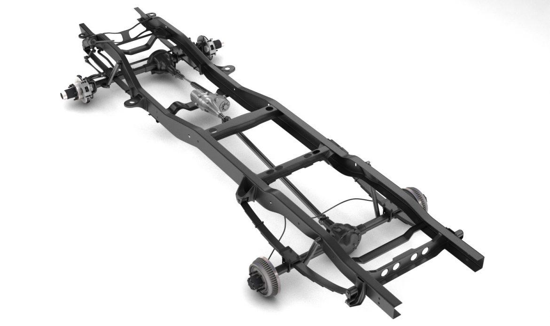 pickup truck chassis 4wd 3d model 3ds max fbx obj 300691
