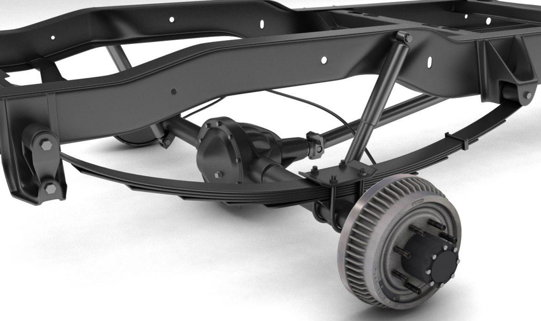 pickup truck chassis 4wd 3d model 3ds max fbx obj 300693