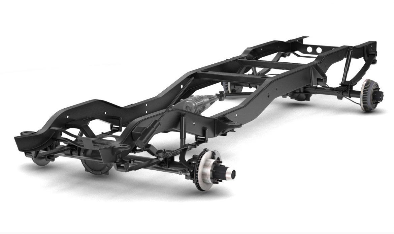 pickup truck chassis 4wd 3d model 3ds max fbx obj 300695