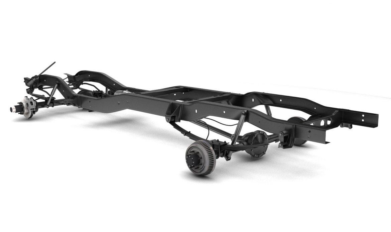 pickup truck chassis 4wd 3d model 3ds max fbx obj 300696