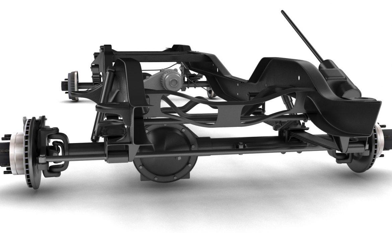 pickup truck chassis 4wd 3d model 3ds max fbx obj 300697