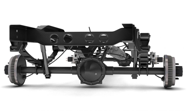 pickup truck chassis 4wd 3d model 3ds max fbx obj 300698