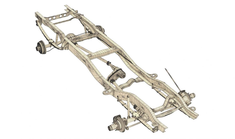 pickup truck chassis 4wd 3d model 3ds max fbx obj 300702