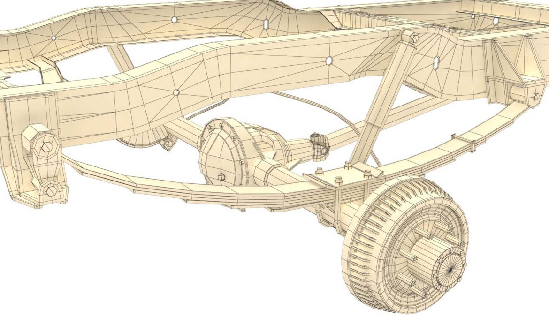 pickup truck chassis 4wd 3d model 3ds max fbx obj 300704