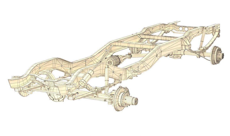 pickup truck chassis 4wd 3d model 3ds max fbx obj 300705