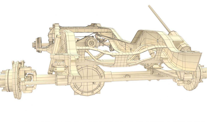 pickup truck chassis 4wd 3d model 3ds max fbx obj 300707