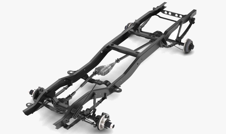 pickup truck chassis 4wd 3d model 3ds max fbx obj 300796