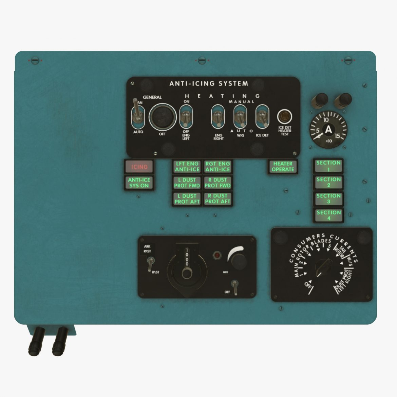 mi-8mt mi-17mt left overhead board english 3d model 3ds max fbx obj 300812