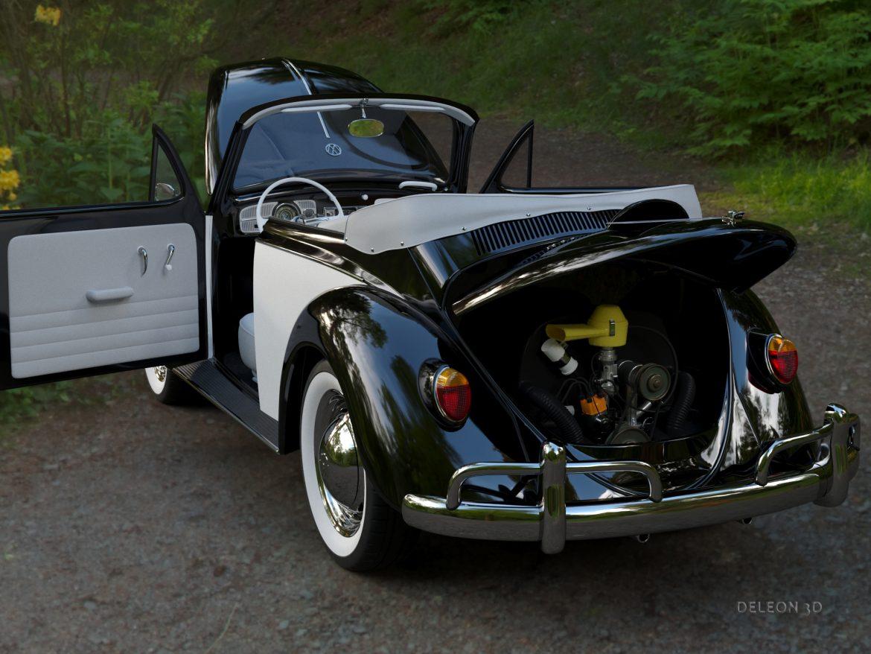 volkswagen bogár átváltható 3d modell max fbx c4d lxo ma mb obj 300905