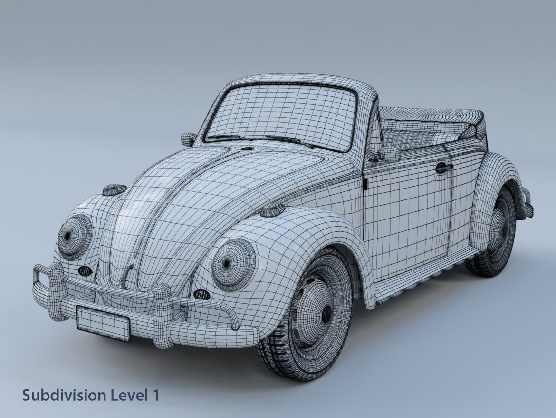 volkswagen bogár átváltható 3d modell max fbx c4d lxo ma mb obj 300909