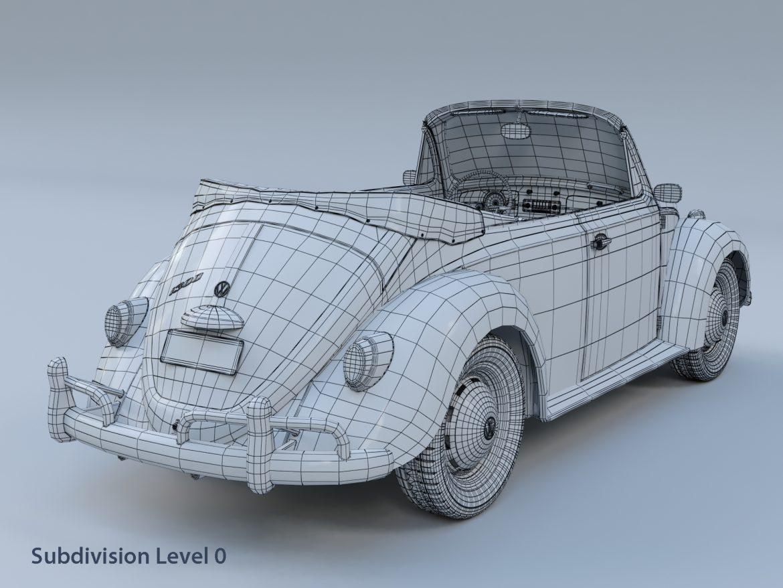 volkswagen bogár átváltható 3d modell max fbx c4d lxo ma mb obj 300910