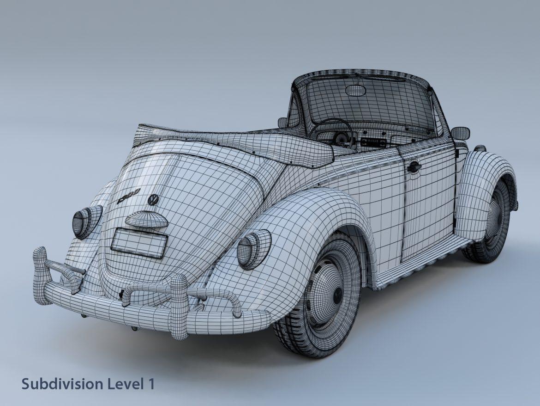 volkswagen bogár átváltható 3d modell max fbx c4d lxo ma mb obj 300911