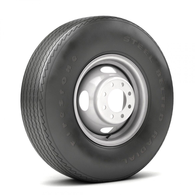 vintage wheel and tire 10 3d model 3ds max fbx obj 301104