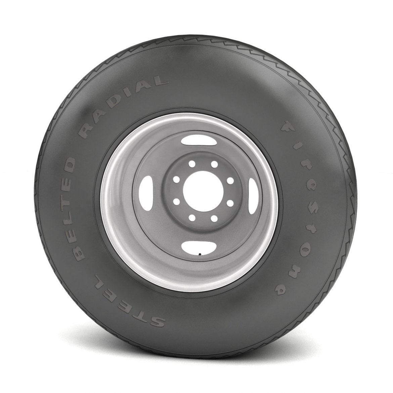 vintage wheel and tire 10 3d model 3ds max fbx obj 301105
