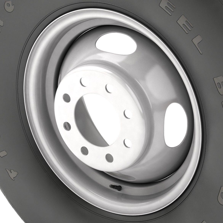 vintage wheel and tire 10 3d model 3ds max fbx obj 301107