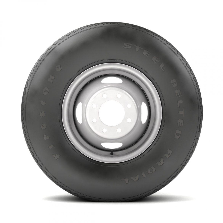 vintage wheel and tire 10 3d model 3ds max fbx obj 301108
