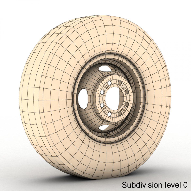 vintage wheel and tire 10 3d model 3ds max fbx obj 301109