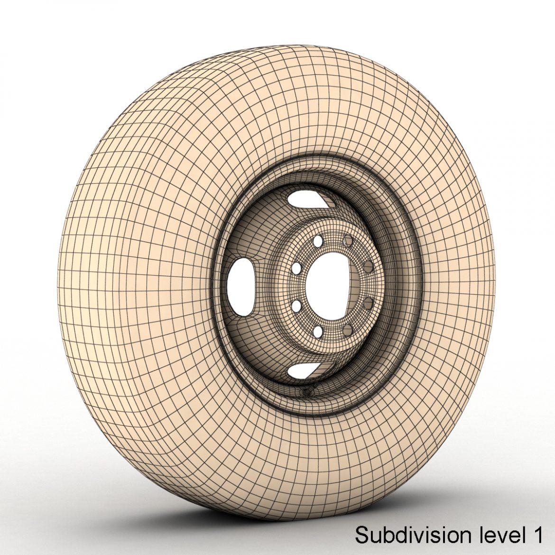 vintage wheel and tire 10 3d model 3ds max fbx obj 301110
