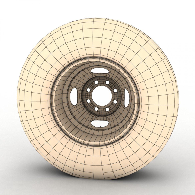 vintage wheel and tire 10 3d model 3ds max fbx obj 301111
