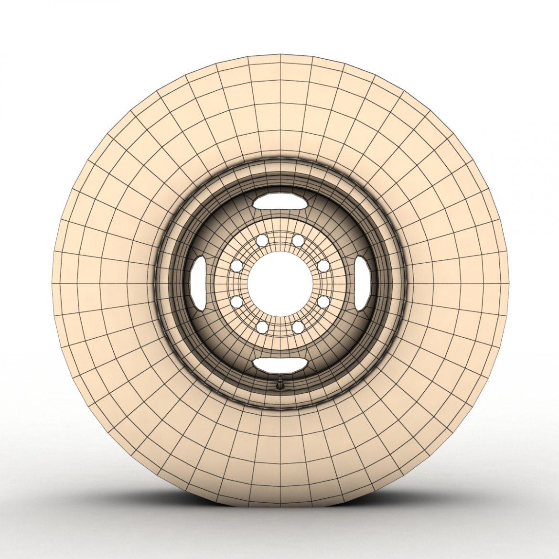 vintage wheel and tire 10 3d model 3ds max fbx obj 301113