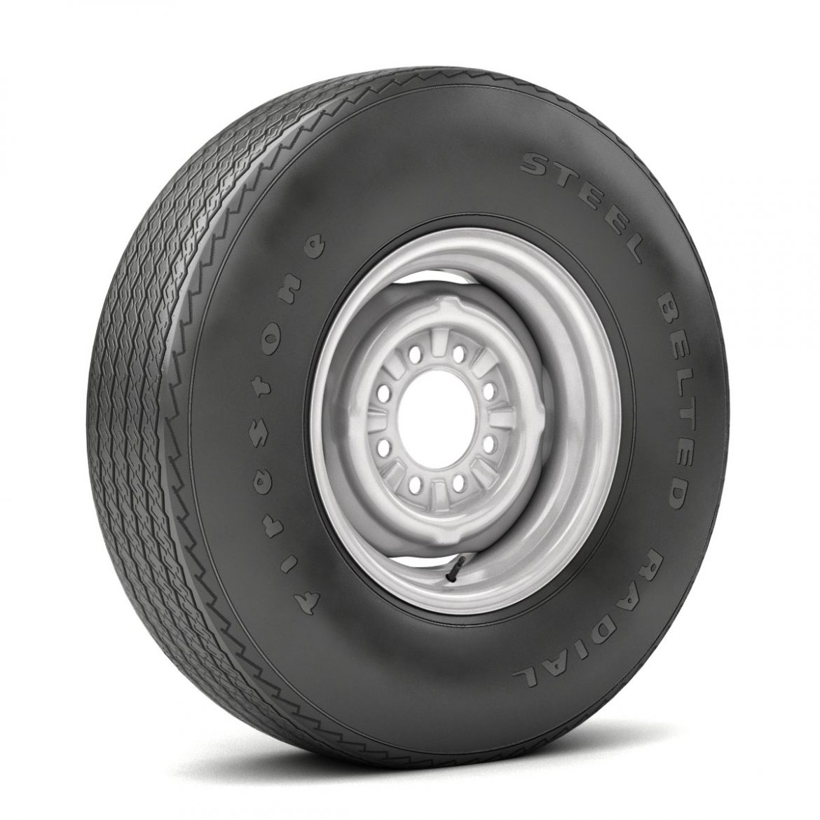 vintage wheel and tire 11 3d model 3ds max fbx obj 301122