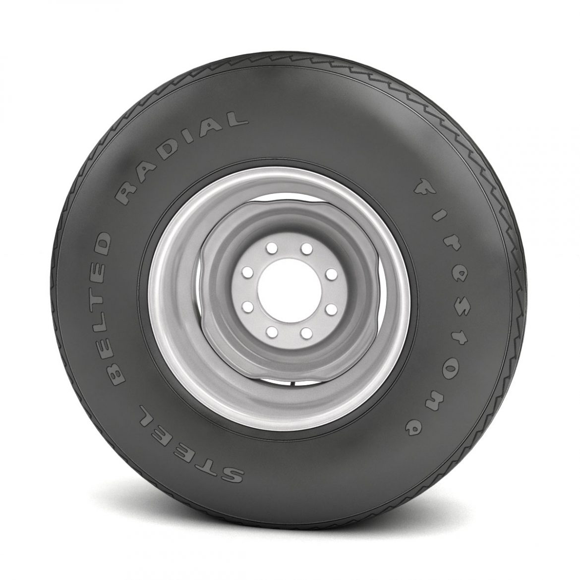 vintage wheel and tire 11 3d model 3ds max fbx obj 301123