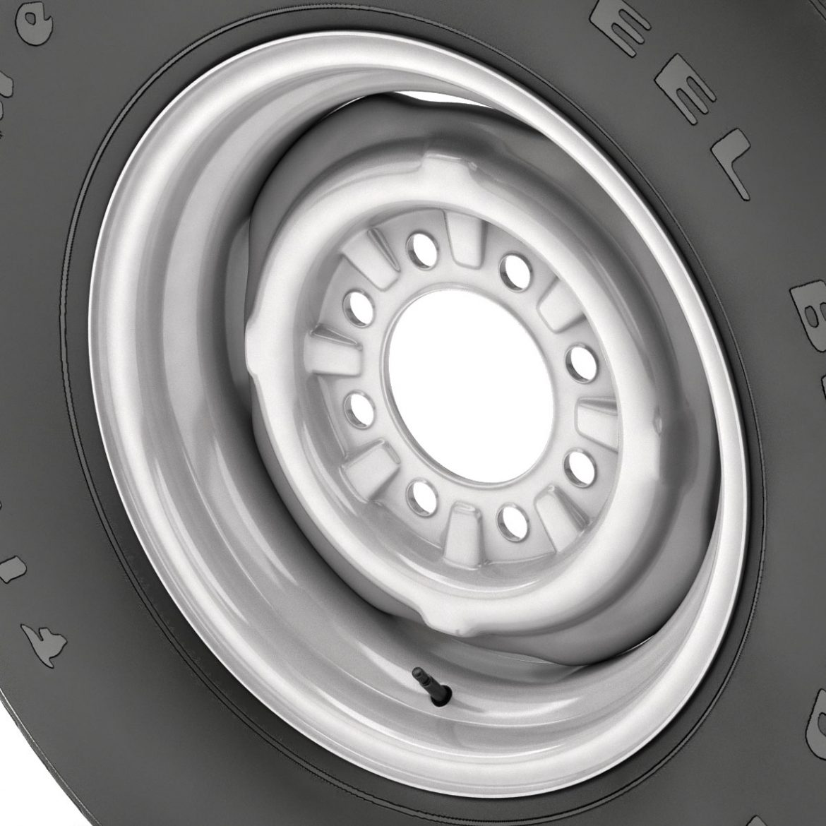 vintage wheel and tire 11 3d model 3ds max fbx obj 301125
