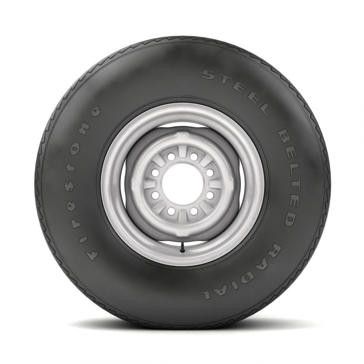 vintage wheel and tire 11 3d model 3ds max fbx obj 301126