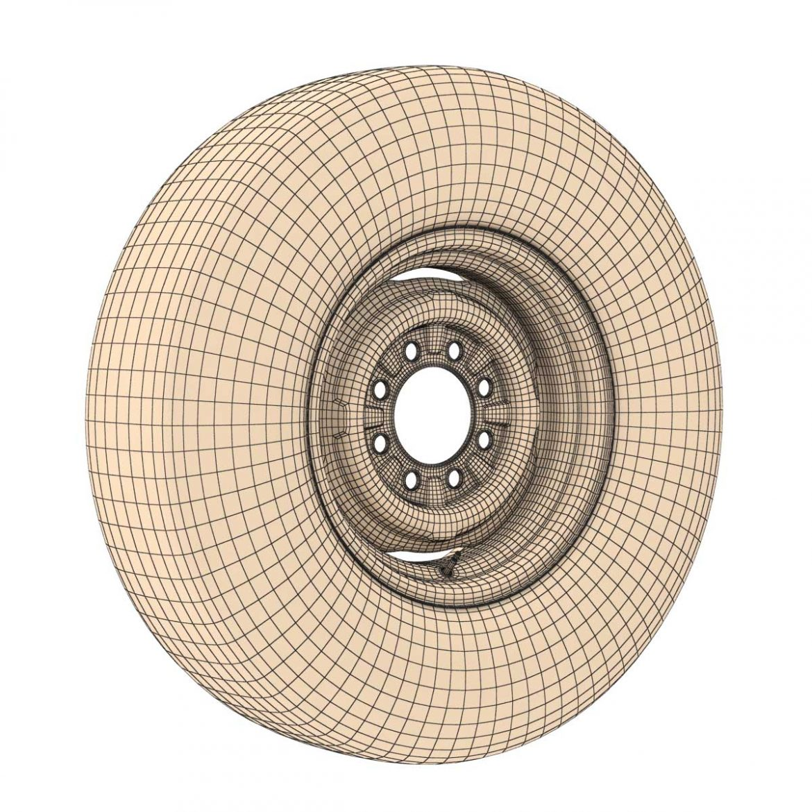 vintage wheel and tire 11 3d model 3ds max fbx obj 301128