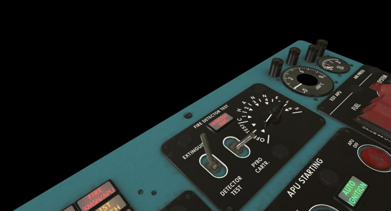 mi-8mt mi-17mt central overhead board english 3d model 3ds max fbx obj 301150